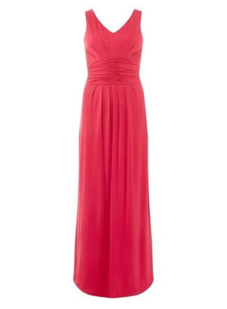 Womens **Cranberry 'Daisy' Maxi Dress- Red, Red