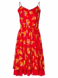Christian Dior Pre-Owned floral flared dress