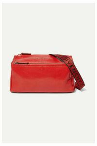 Givenchy - Pandora Mini Washed-leather Shoulder Bag - Red