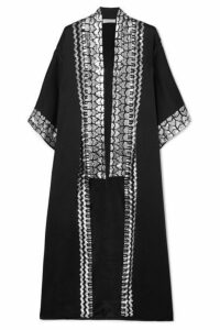 Temperley London - Sequin-embellished Satin-crepe Kimono - Black