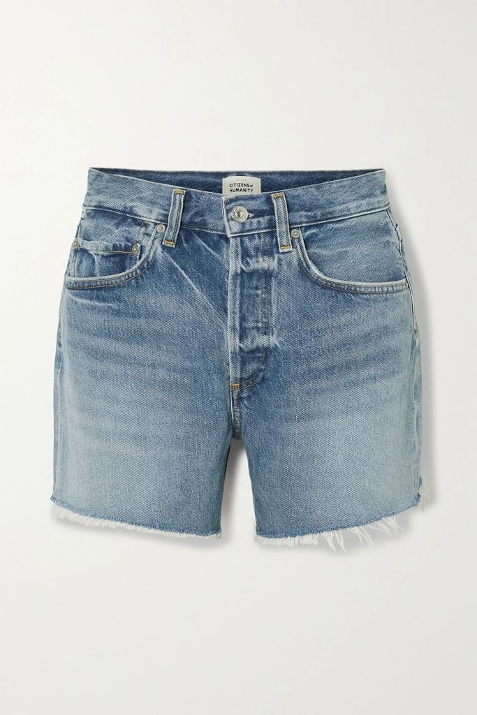 RE/DONE - Oversized Distressed Denim Jacket - Mid denim