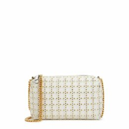 RedV Puzzle Off-white Leather Cross-body Bag