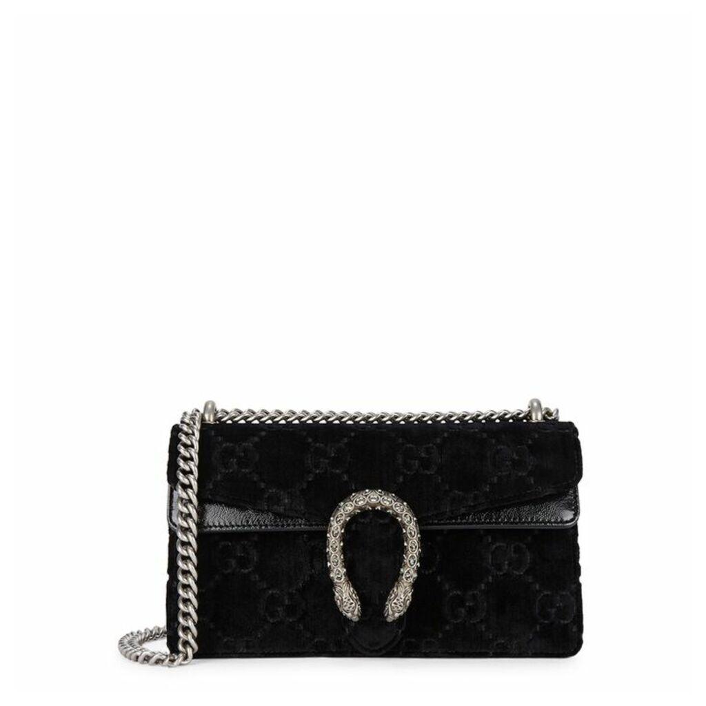 Gucci Dionysus Small Black Velvet Shoulder Bag