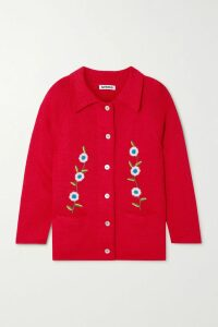 Moncler - Quilted Shell And Wool Cardigan - Black