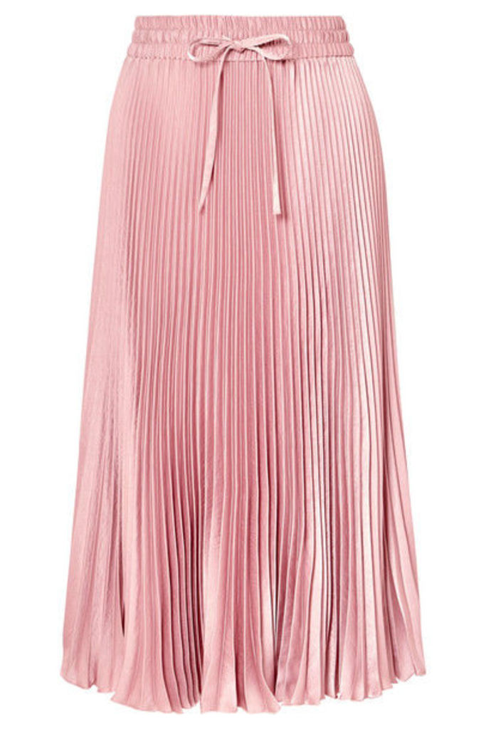 REDValentino - Pleated Satin Midi Skirt - Pink
