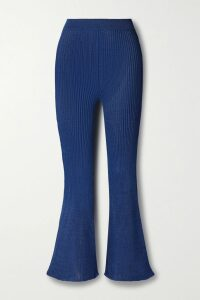 Miu Miu - Open-back Crystal-embellished Crushed-velvet Midi Dress - Black