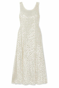 Racil - Shadow Devoré-velvet Maxi Dress - White
