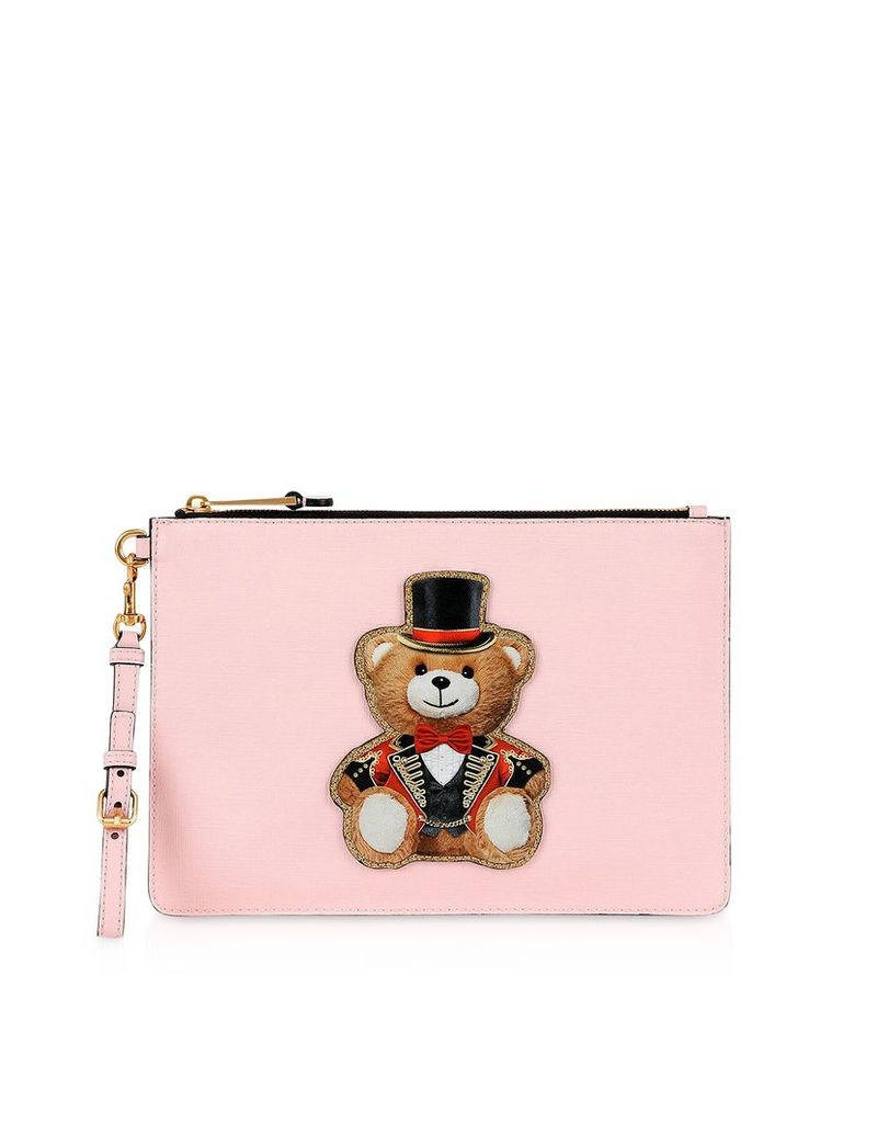 Moschino Designer Handbags, Teddy Circus Clutch