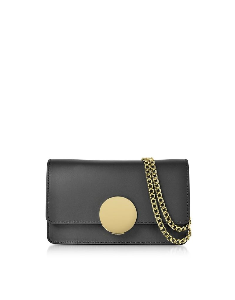 Le Parmentier Designer Handbags, New Ondina Nano Leather and Suede Crossbody Clutch