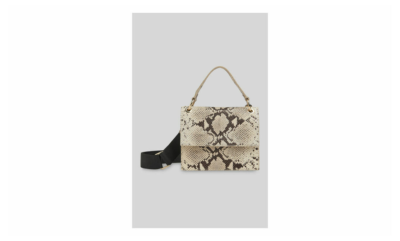 Harriet Top Handle Snake Bag