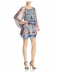 Ramy Brook Kayden Mixed-Print Dress