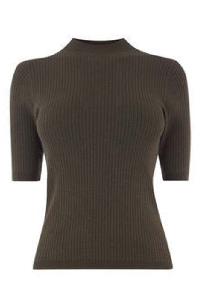 ELLEN HIGH NECK RIB JUMPER