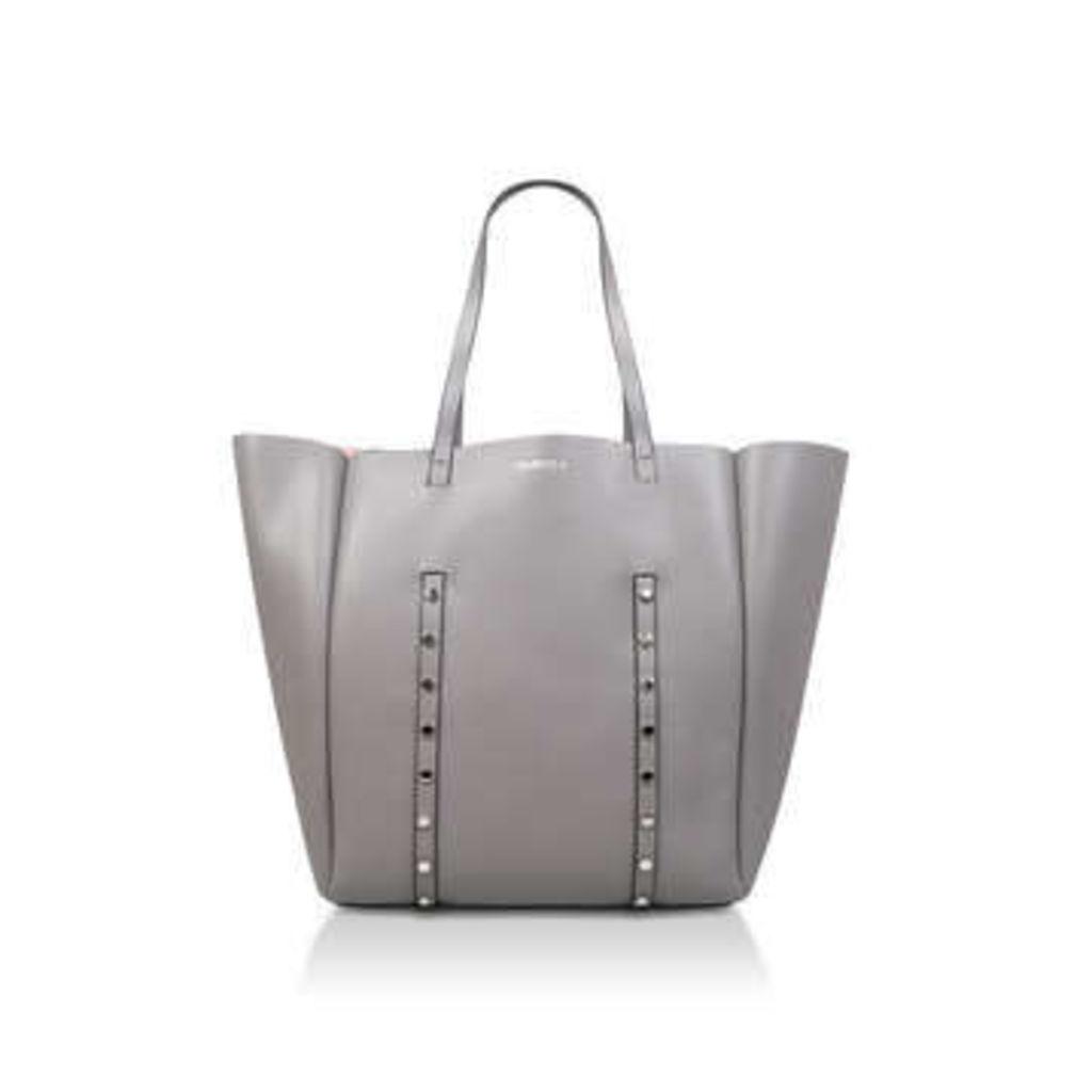Carvela Claudia Stud Shopper - Grey Shopper Bag