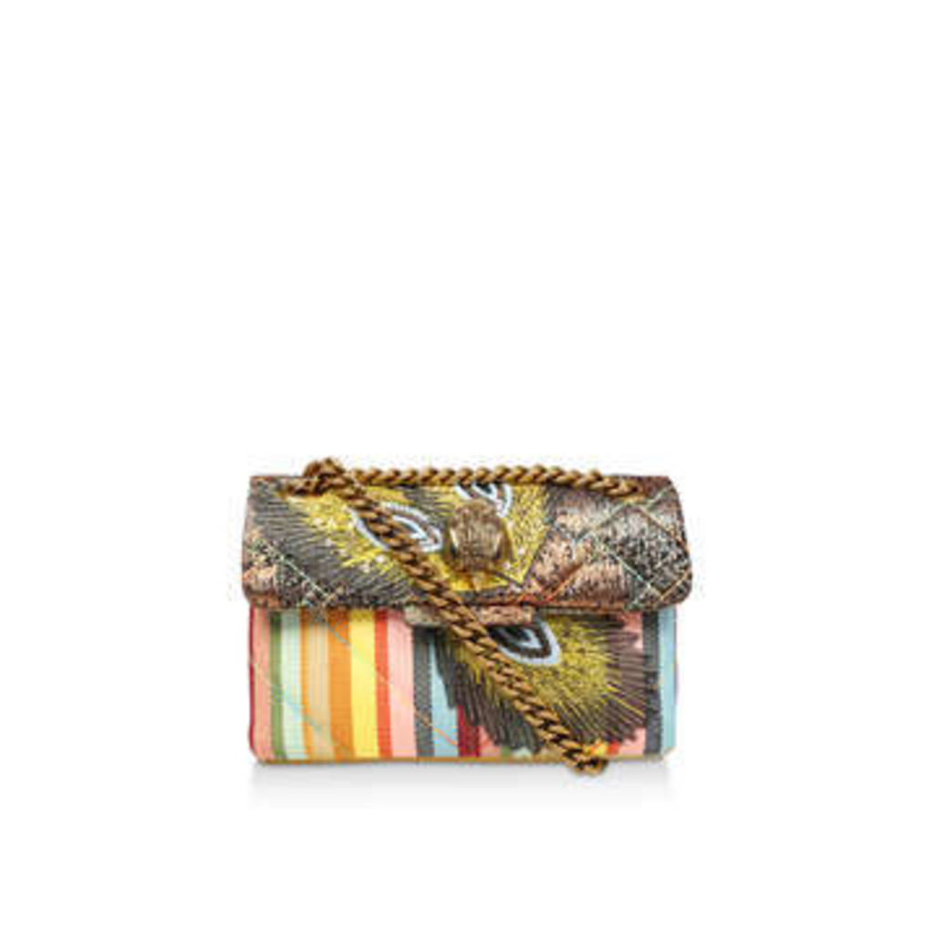 Kurt Geiger London Fabric Mini Kensington X - Green Embellished Cross Body Bag