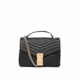 Carvela Celina V Quilt X Body Bag - Black Quilted Cross Body Bag