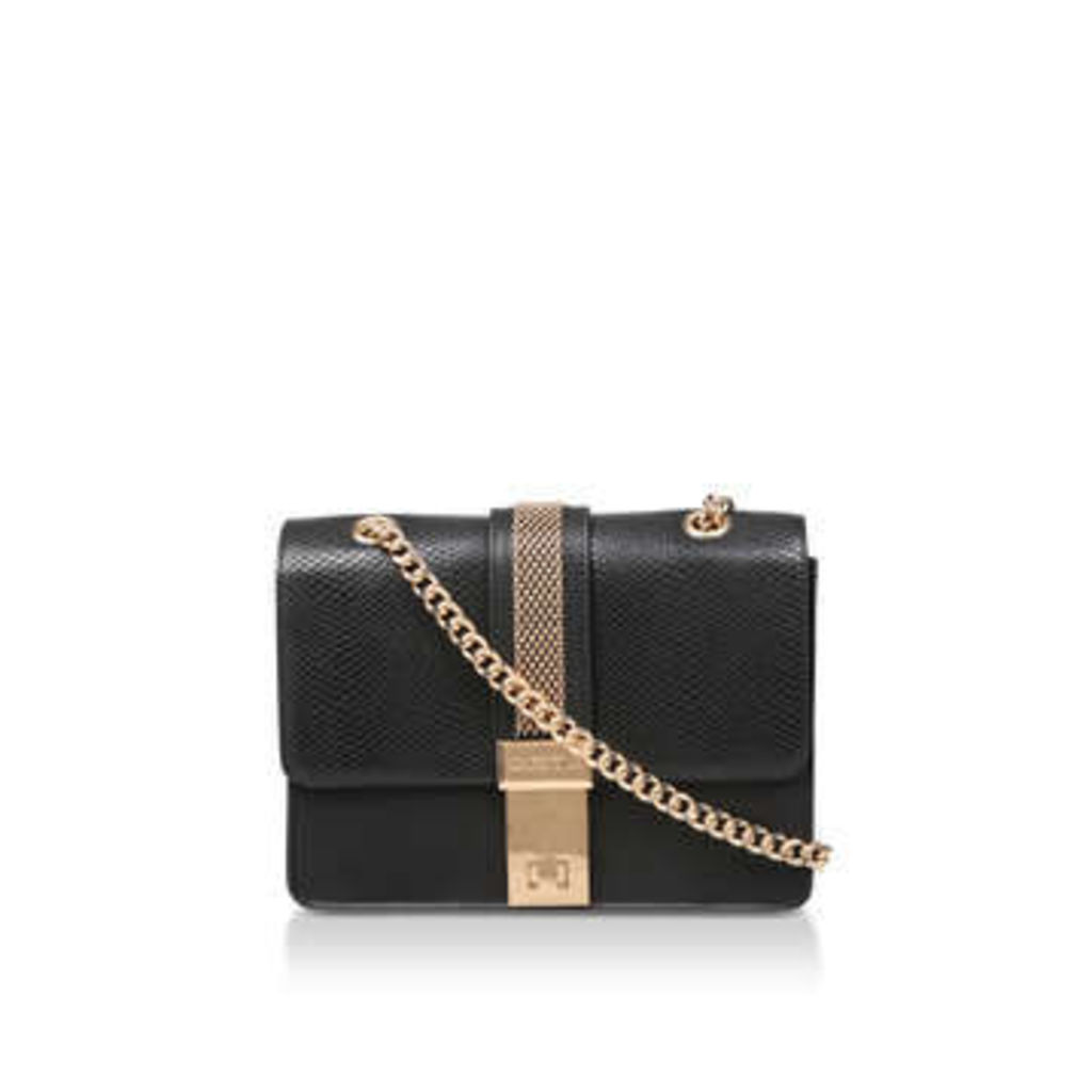 Carvela Casey Chain Xbody Bag - Black Snake Print Cross Body Bag