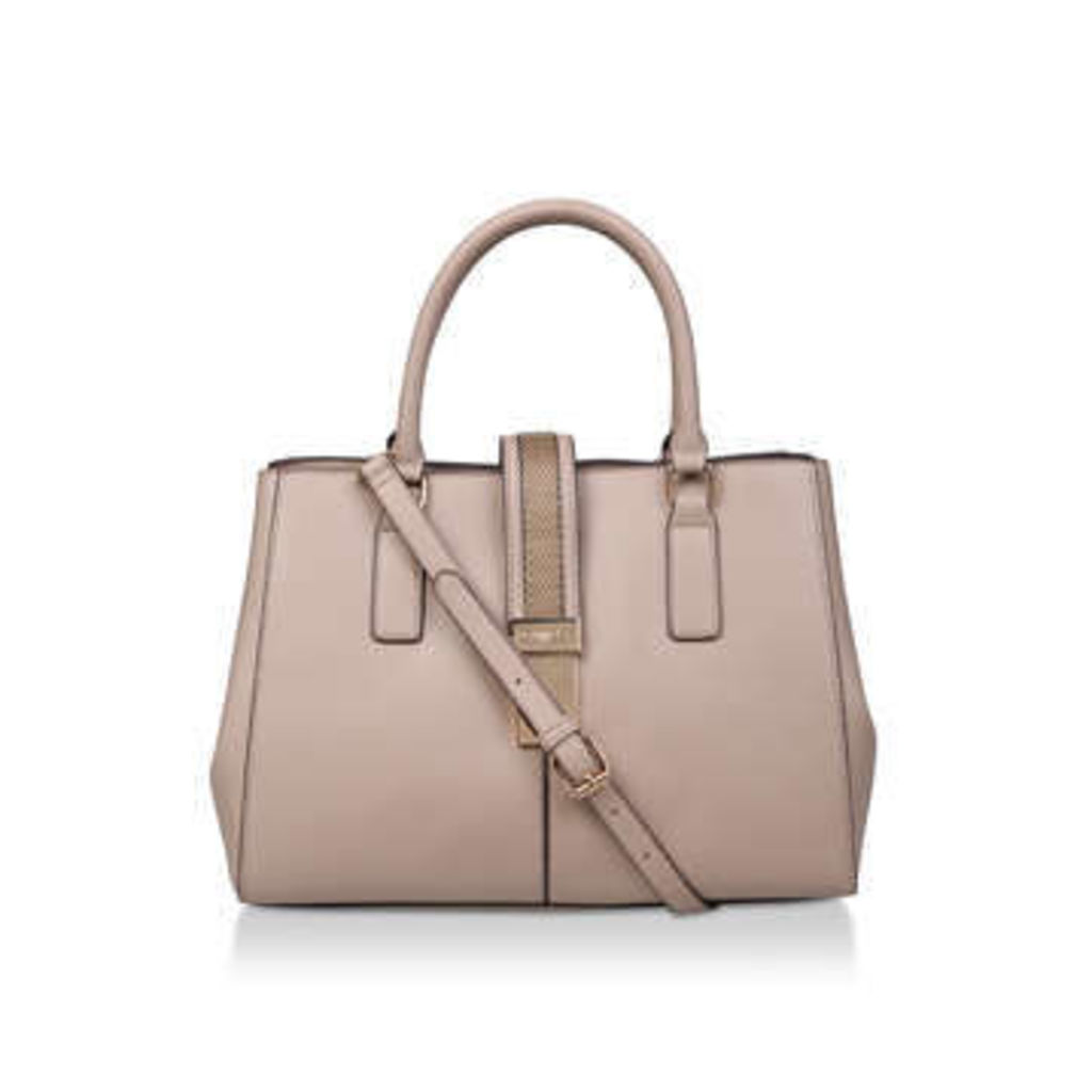 Carvela Chrissy Chain Front Tote - Nude Tote Bag