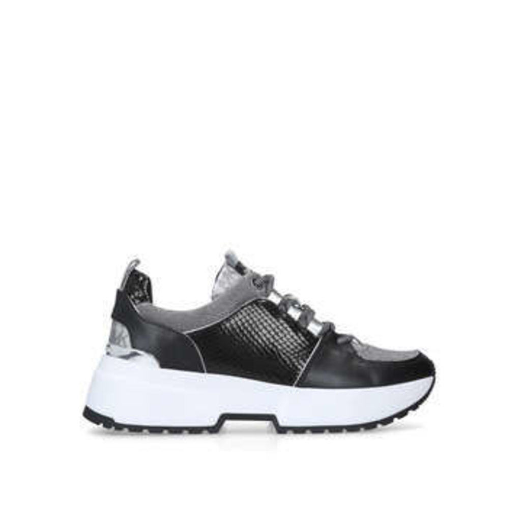Michael Michael Kors Cosmo Trainer - Black Chunky Low Top Trainers