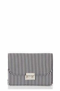Quiz Black And White Stripe Bag
