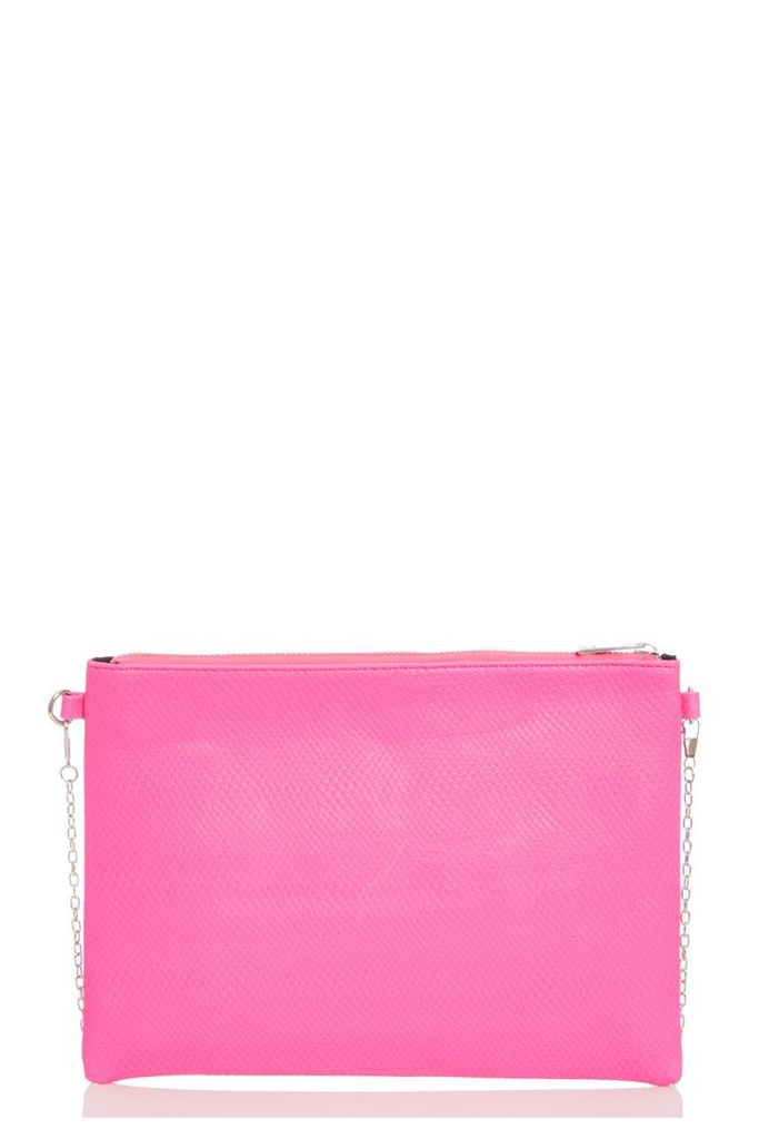 Quiz Pink Neon Zip Bag