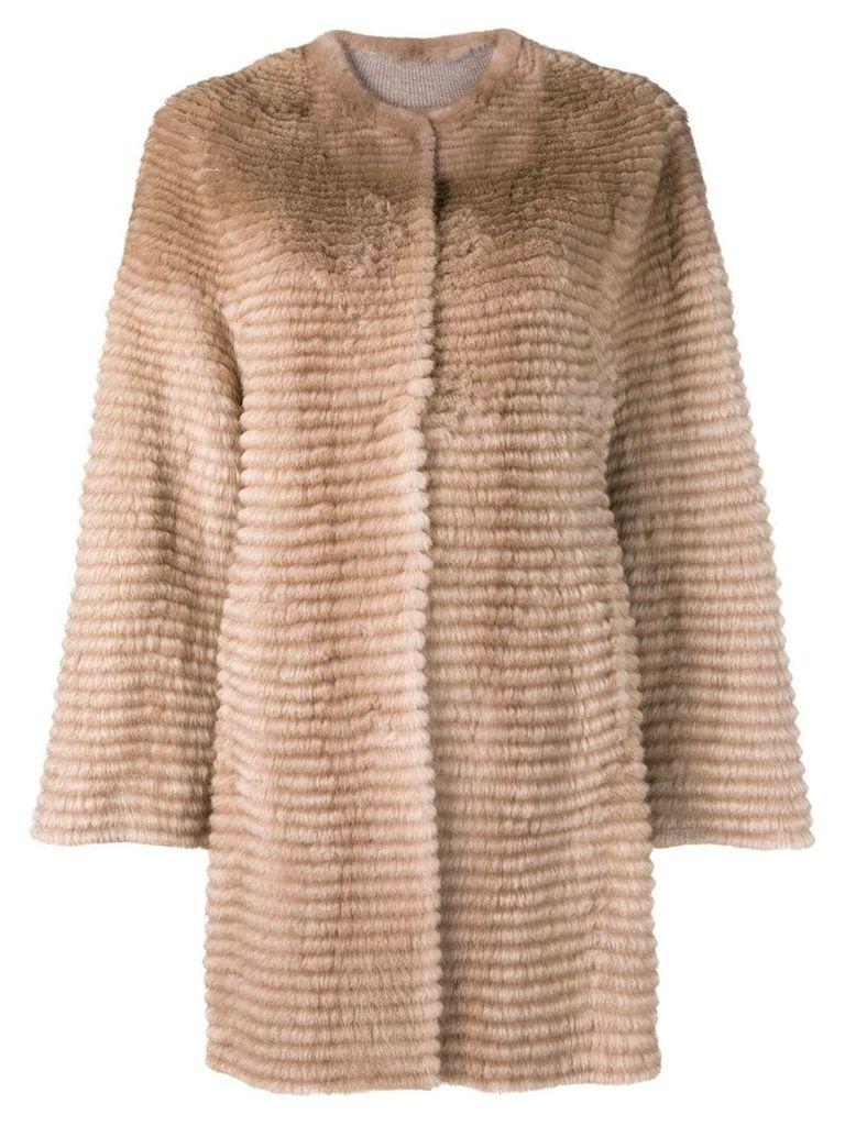 Liska mink fur coat - Brown