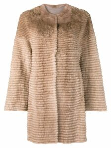 Liska mink fur coat - Brown