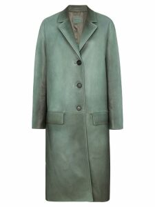 Prada Napa leather coat with rear belt - Green