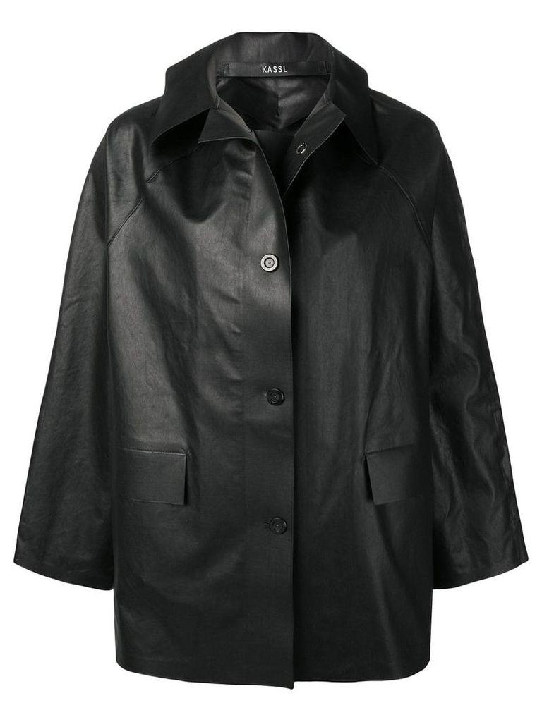 Kassl oversized short coat - Black