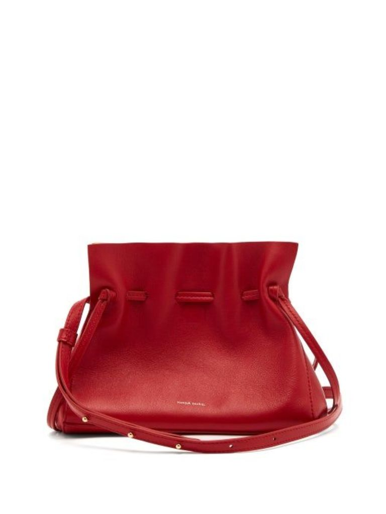Mansur Gavriel - Mini Protea Leather Cross Body Bag - Womens - Red Multi