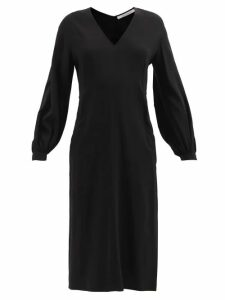 On The Island By Marios Schwab - Fornells Tiered Cotton Dress - Womens - Black
