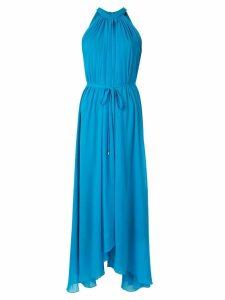 Saloni sleeveless flared maxi dress - Blue