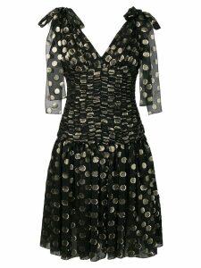 Dolce & Gabbana flared polka dot dress - Black
