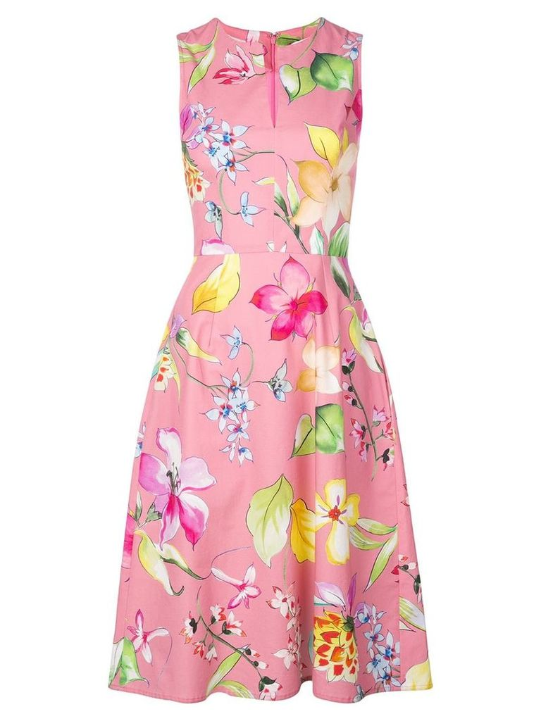 Carolina Herrera floral print dress - Pink