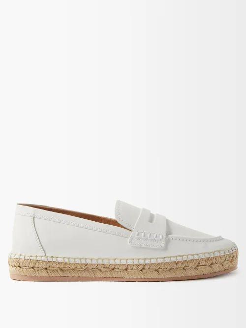 Rochas - Floral Print Duchess Satin Pencil Skirt - Womens - Blue Multi