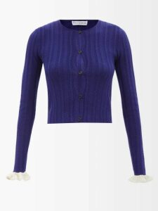 Dolce & Gabbana - Leopard Print Wool Blend Pleated Skirt - Womens - Leopard
