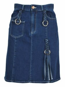 See By Chloe See By Chloé Braided Buckle Denim Skirt