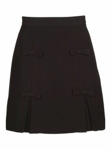 Miu Miu Bow Detailed Skirt