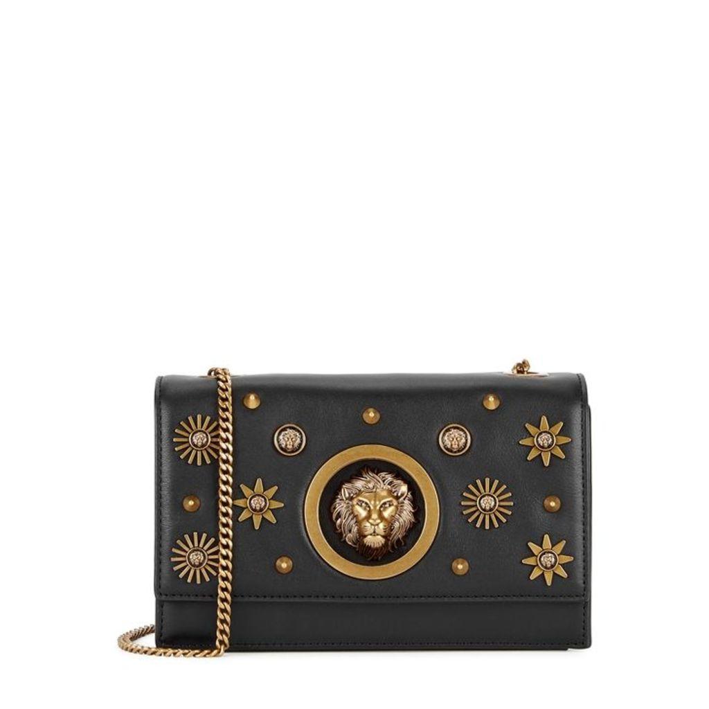 Versus Versace Black Embellished Leather Cross-body Bag
