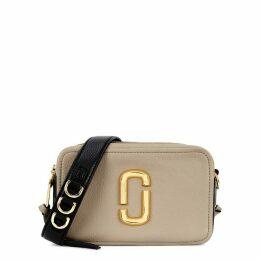 Marc Jacobs Softshot 21 Taupe Leather Shoulder Bag