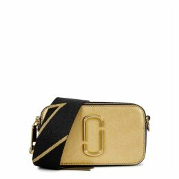 Marc Jacobs Snapshot Gold Leather Shoulder Bag