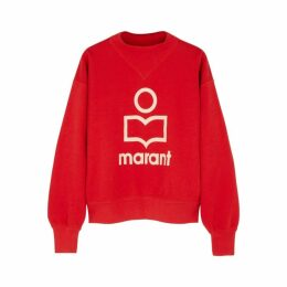 Isabel Marant Étoile Moby Red Logo Cotton-blend Sweatshirt
