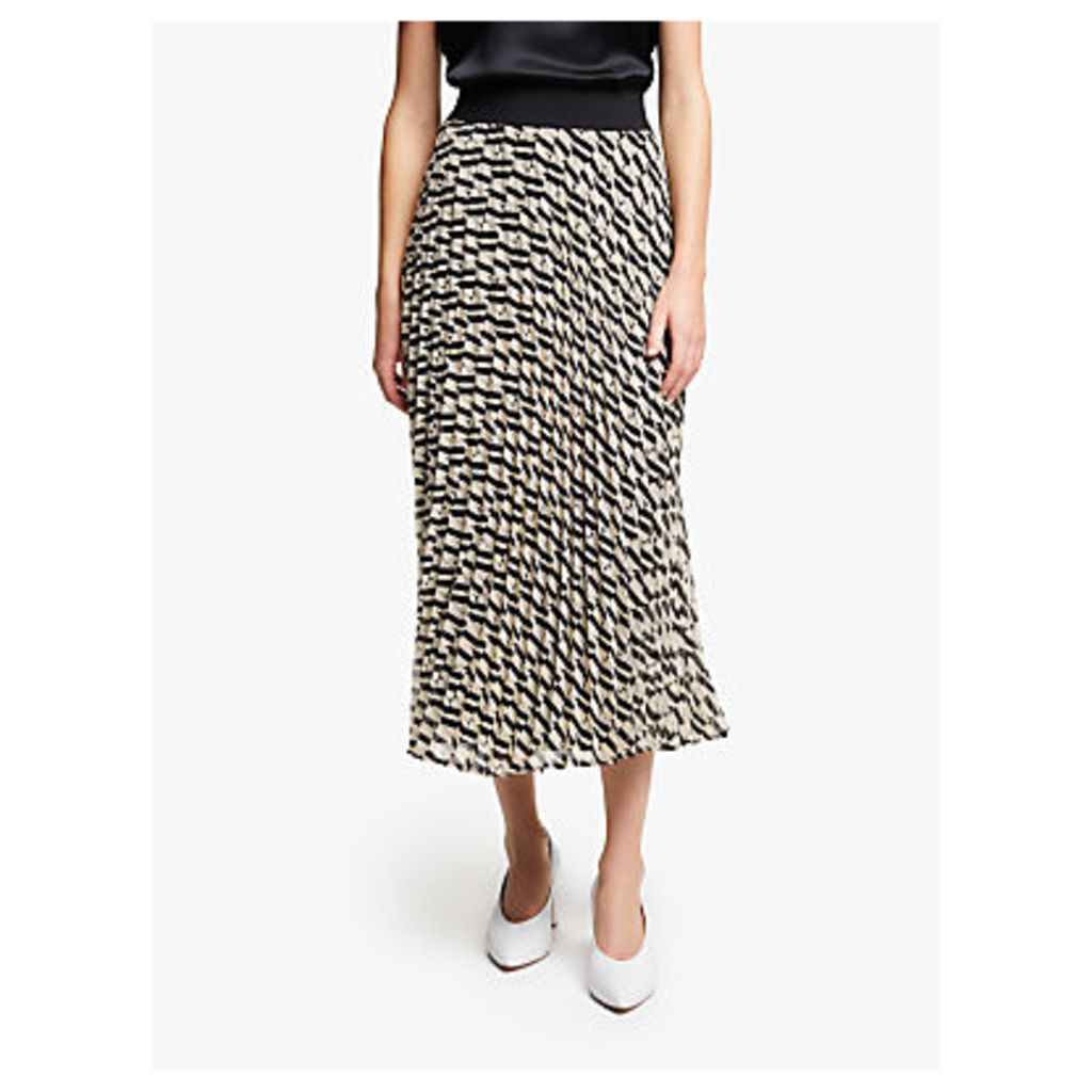 Marella Vita Print Pleated Skirt, Beige
