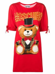 Moschino Circus Teddy Bear T-shirt dress - Red