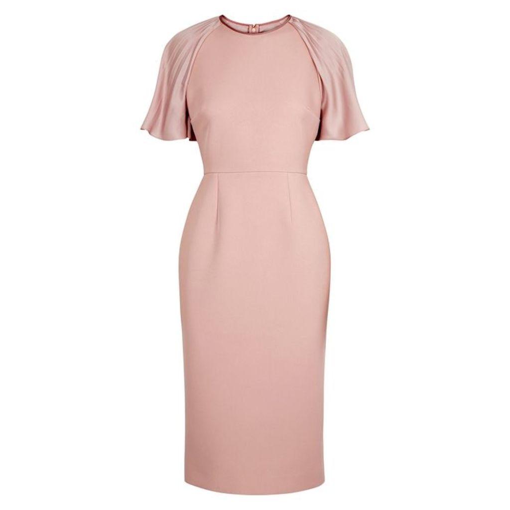 Roksanda Cierra Blush Draped-sleeve Dress