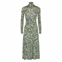 Rosetta Getty Printed Jersey Midi Dress