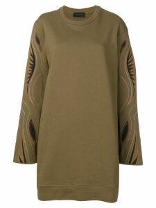 Diesel Black Gold western embroidered jumper dress - Green