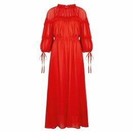 Rejina Pyo Tia Red Ruffle-trimmed Maxi Dress