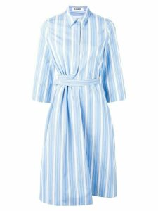 Jil Sander striped shirt dress - Blue