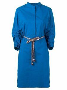 Odeeh belted shirt dress - Blue