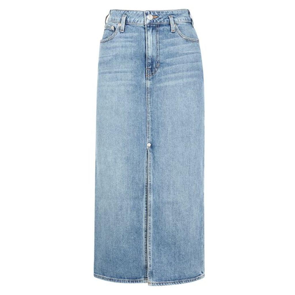 Proenza Schouler Blue Stretch-denim Midi Skirt